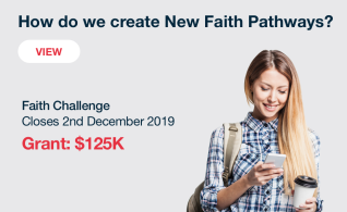 Image thumbnail for challenge entitled NOW OPEN: Faith Challenge: How Do We Create New Faith Communities?